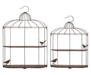 Decoratieve vogelkooien BIRDY, 2-delig.