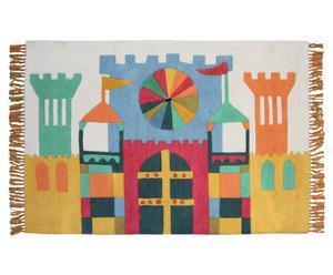 Handgetuft tapijt Little Castle, 100 x 150 cm