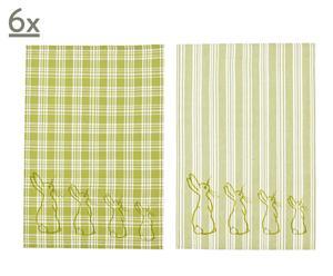 Set van 12 handdoeken INSIDE, groen