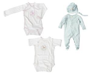 Kledingset voor vroeggeborenen CUTE, 4-delig, maat 42 en 46