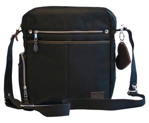 Multifunctionele tasset LUCA, 4-delig, zwart/bruin