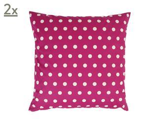 Set van 2 kussenhoezen POLKA DOTS, roze, 50 x 50 cm