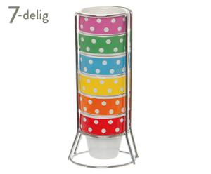 Set eierdopjes Mini Dots, 7-delig