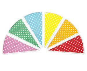 Set taartbordjes Mini Dots, 6-delig