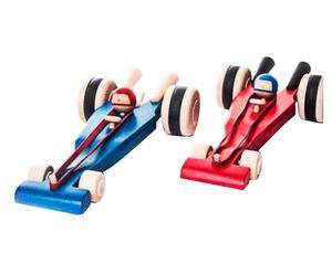 Handgemaakt kinderspeelgoed Rcae-auto, rood