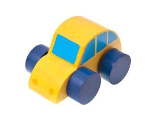 Handgemaakte speelgoed AUTO, geel