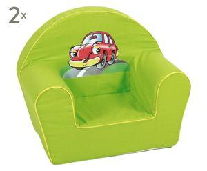 Mini-stoel Green Racer, 2 stuks