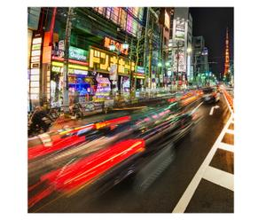 Digitale print Street, 90 x 90 cm