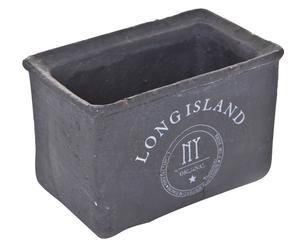 Plantenpot Long Island, grijs, H 12 cm