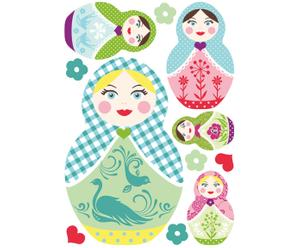 Wandsticker Little Ladies, DIN A3