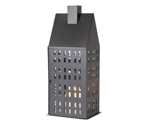 Windlicht House, zwart, H 40 cm
