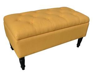 Bankje Mirabelle, met opbergruimte, geel, B 80 cm