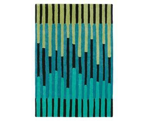 Handgetuft tapijt Estella, groen/blauw, 250 x 350 cm