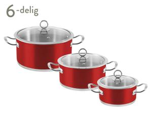Kookpannenset Rossa, 6-delig