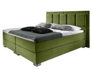 Boxspringbed New York, groen, stevigheid: 3, 160 x 200 cm