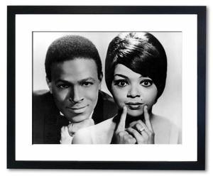 Ingelijste foto Marvin Gaye & Tammi Terrell, 50 x 40 cm