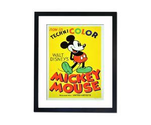 Ingelijste filmposter Mickey Mouse, 40 x 50 cm