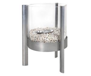 Bio-Ethanol-Tafelhaard Spark, grijs/transparant, H 50 cm