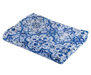 Picknickkleed Portuguesa, blauw/wit, 150x200 cm