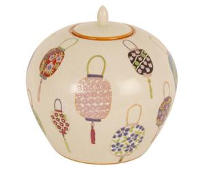 Vaas met deksel Anna, H 24 cm