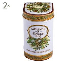 Bio-kruidenmix 5 kruiden Melange, in blik, 2 stuks