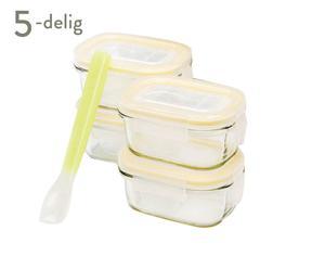 Set vershoud- en magnetronbakjes Baby Meal, 5-delig