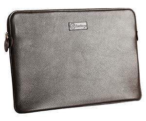 Laptoptas MacBook Air 11, glad leer, bruin, 20 x 30 cm