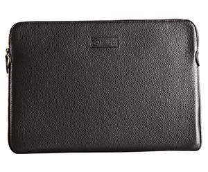 Laptoptas MacBook Air, glad leer, zwart, 20 x 30 cm