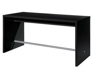 Bartafel Riga, zwart, B 180 cm