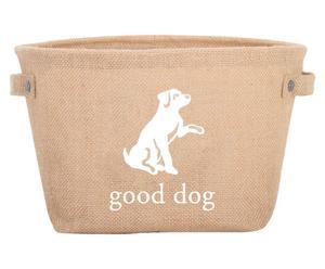 Mand Good Dog voor hondenspeelgoed, Naturel/Wit