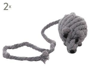 Speelgoedmuis Otila, 2 stuks, Grijs, L 21 cm