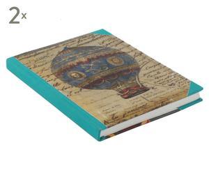 Notitieboekje Mongolfiere, 2 stuks, formaat A5