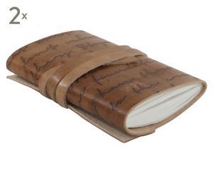 Notitieboekje Notes, 2 stuks, lichtbruin, 13 x 18 cm