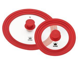 Set van 2 vario-deksels ROMA, rood