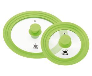 Set van 2 vario-deksels ROMA, groen