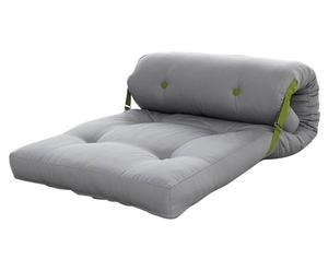 Multifunctionele voetenbank Roller, uitrolbaar, grijs/groen