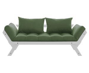Multifunctionele futon-bank Bebop, uitklapbaar, grijs/donkergroen/donkergroen