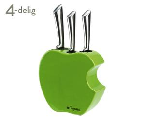 Messenblok-set Apple, 4-delig, groen