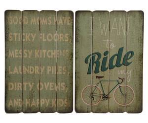 Wandbord Bike, 2 stuks, B 40 cm