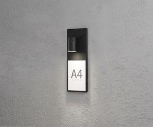 Huisnummer-verlichter Molana, zwart, H 42 cm