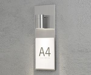 Huisnummer-verlichter Molana, RVS, H 42 cm