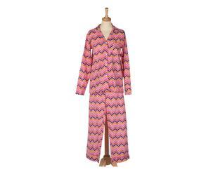 Pyjama-set Zig Zag roze, 2 delig, maat S