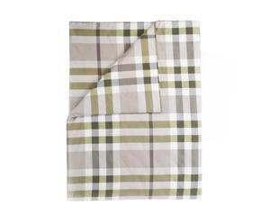 Dekbedovertrek Ruthy, Groen/beige, 160 x 220 cm