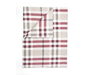 Dekbedovertrek Ruthy, beige/rood, 160 x 220 cm