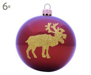 Kerstballen Victoire, 6 stuks, koper/goud, Ø 8 cm