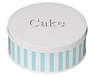 Cakeblik Candy, Blauw, H 9 cm