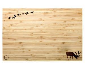 Bamboe snijplank Birds Flying, B 46 cm