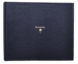 Fotoalbum Honeymoon, navy, H 20 cm