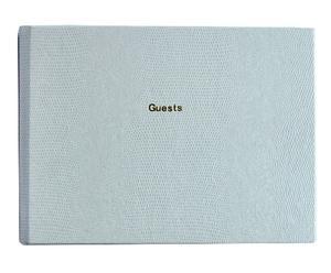 Handgemaakt gastenboek Marry, wit, H 25 cm