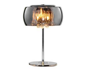 Tafellamp Vapore, bruin, diameter 22 cm